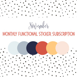 November Colors - Monthly Subscription