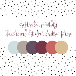 September Colors - Monthly Subscription