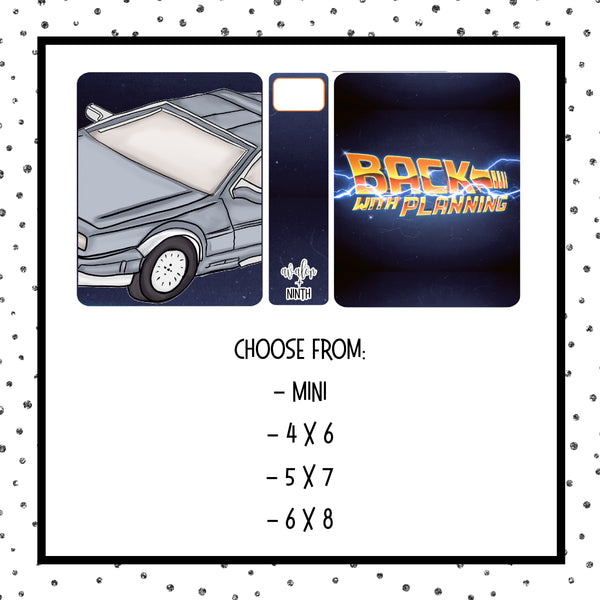 Sticker album - Choose Your Size - Design 12 - BTTF1
