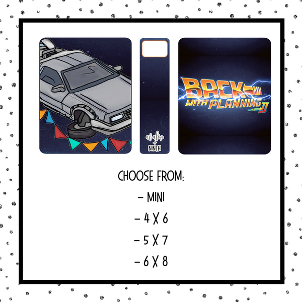 Sticker album - Choose Your Size - Design 13 - BTTF2