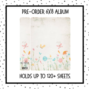PREORDER - 6x8 Sticker album - Butterflies and Flowers