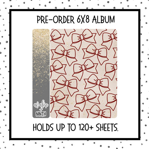PREORDER - 6x8 Sticker album - Red Bows