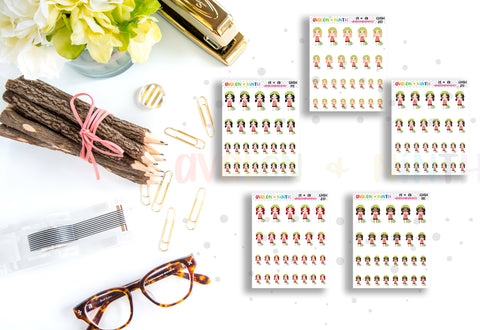 Sweeping // Cleaning // Housework Girl // Planner Stickers // CHSH