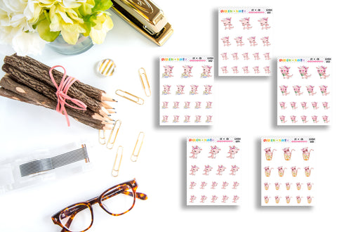 Daisy the Dragon // Planner Stickers // CHSH