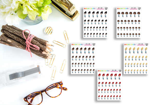 Camera // Picture // Selfie // Photo // Girl Stickers // Planner Stickers // CHSH