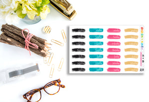 Brush Stroke Date Covers // Planner Stickers // DC112