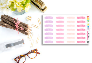 Brush Stroke Date Covers // Planner Stickers // DC114