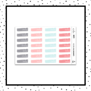 Brush Stroke Date Covers // Planner Stickers // DC130