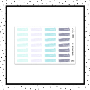Brush Stroke Date Covers // Planner Stickers // DC133