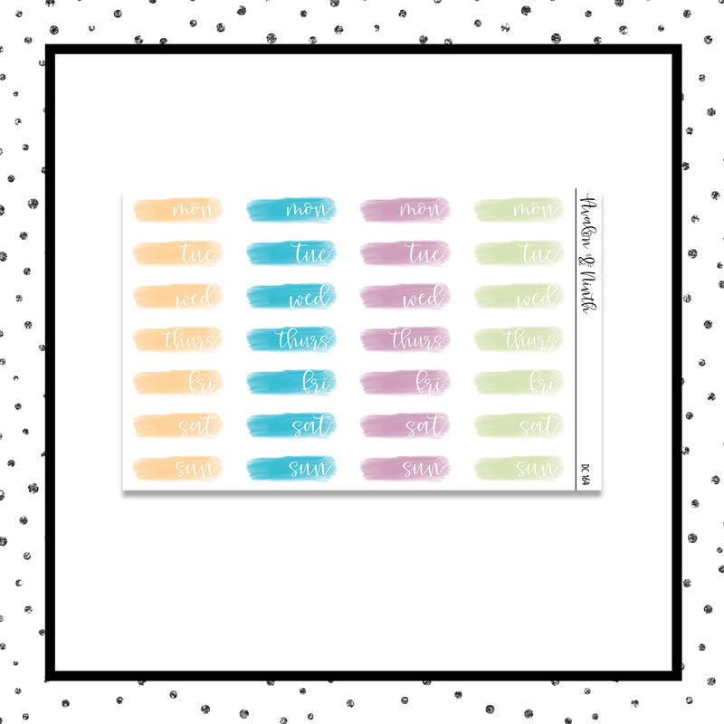 Brush Stroke Date Covers // Planner Stickers // DC164