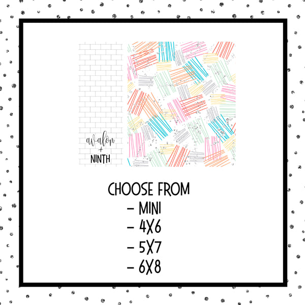 Sticker album - Choose Your Size - Design 7