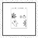 Foiled Full Box Stickers // Halloween // Planner Stickers // F105