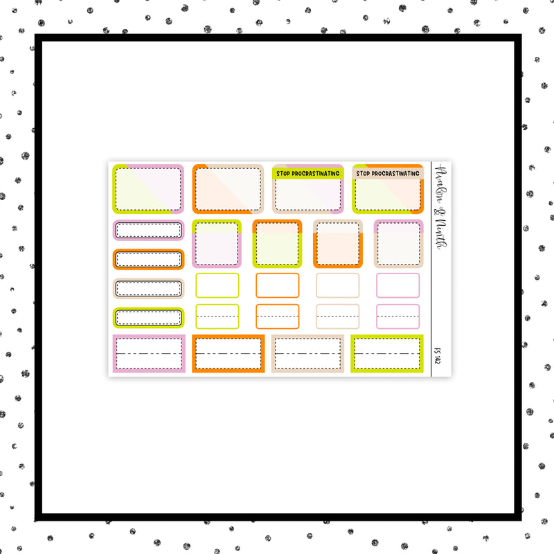 1-Page Functional Sampler Stickers // Functional // FS142