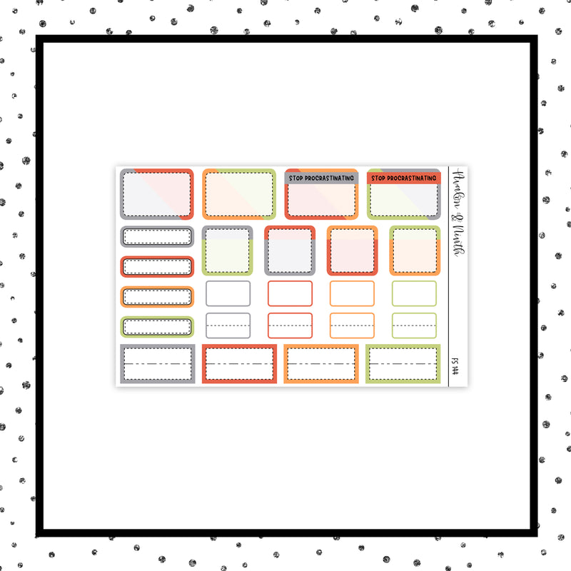 1-Page Functional Sampler Stickers // Functional // FS144