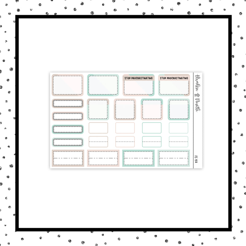 1-Page Functional Sampler Stickers // Functional // FS154