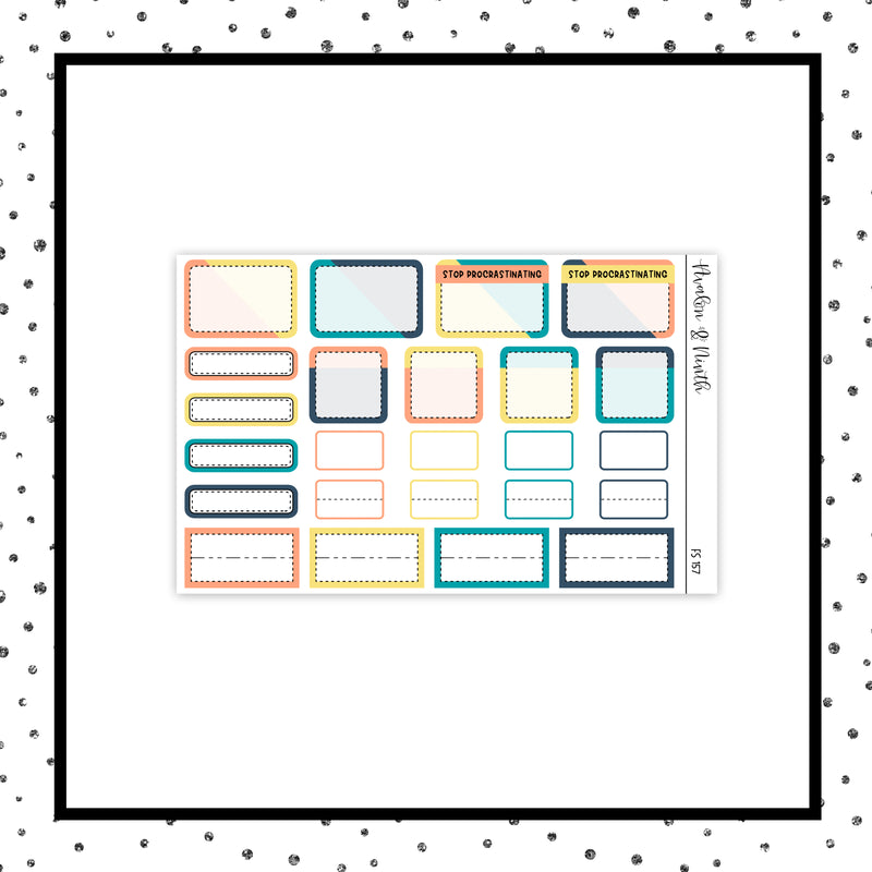 1-Page Functional Sampler Stickers // Functional // FS157