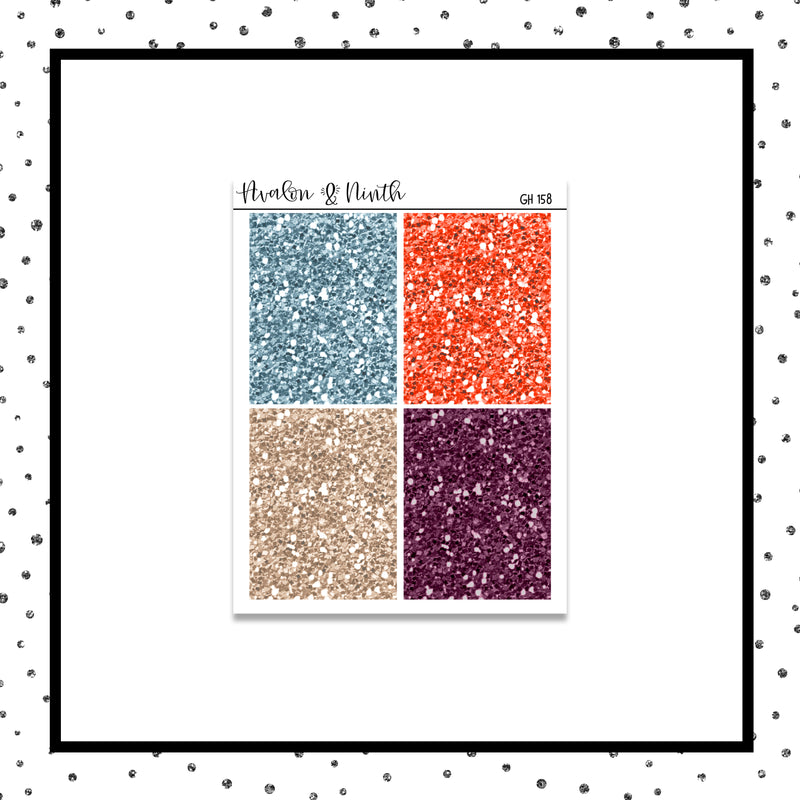 Glitter Headers // Planner Stickers // GH158