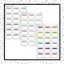 Half Stitched Boxes // Planner Stickers // HALF104-105, 109