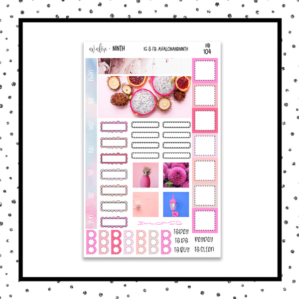 Pink Hobonichi Kit // Planner Stickers // HB104