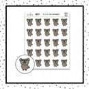 Mojo the Pug Sarcastic/Blank Face Doodle Stickers // Planner Stickers // Icon Stickers // HDCH102