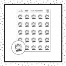 Elle Peacefully Sleeping Doodle Stickers // Planner Stickers // Icon Stickers // HDCH103