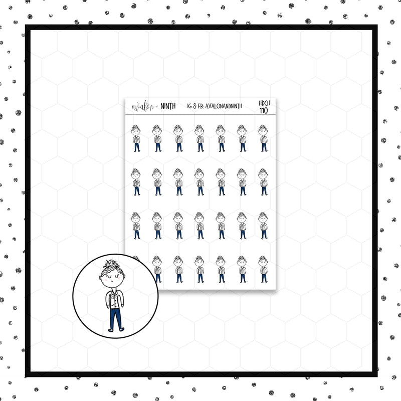 Elle is a Doctor/Nurse Stickers // Planner Stickers // Icon Stickers // HDCH110