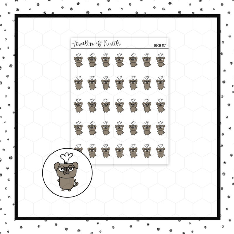 Mojo the Pug is Cooking Doodle Stickers // Planner Stickers // Icon Stickers // HDCH117