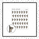 Peeking Around a Corner Mojo Doodle Stickers // Planner Stickers // Icon Stickers // HDCH119