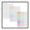Quarter Box Label Stitched Boxes // Planner Stickers // Choose Your Color Palette