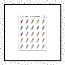 Pencil Icon Stickers // Planner Stickers // Icon Stickers // IC213