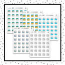 Weather Doodle Stickers // Planner Stickers // Icon Stickers // IC215-219