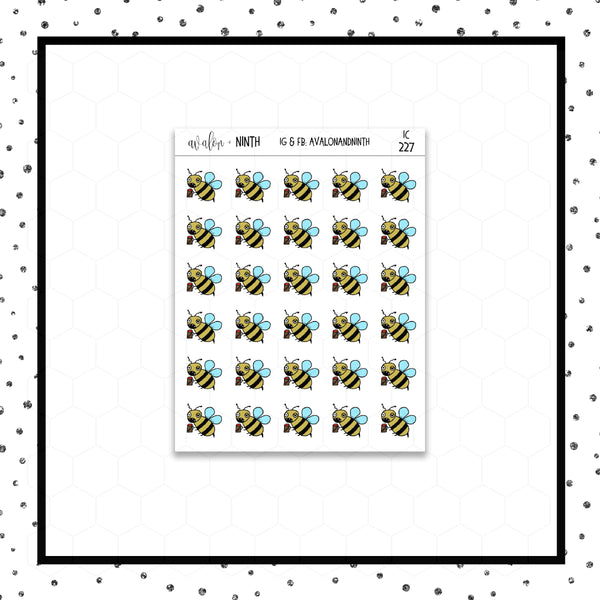 Zombee Doodle Stickers // Planner Stickers // Icon Stickers // IC227