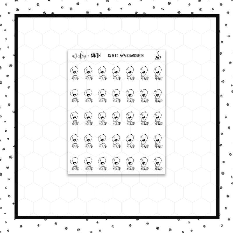 #Dead Doodle Stickers // Planner Stickers // Icon Stickers // IC267