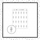 Skeleton Doodle Stickers // Planner Stickers // Icon Stickers // IC270