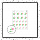 Floppy Flower Doodle Stickers // Planner Stickers // Icon Stickers // IC271