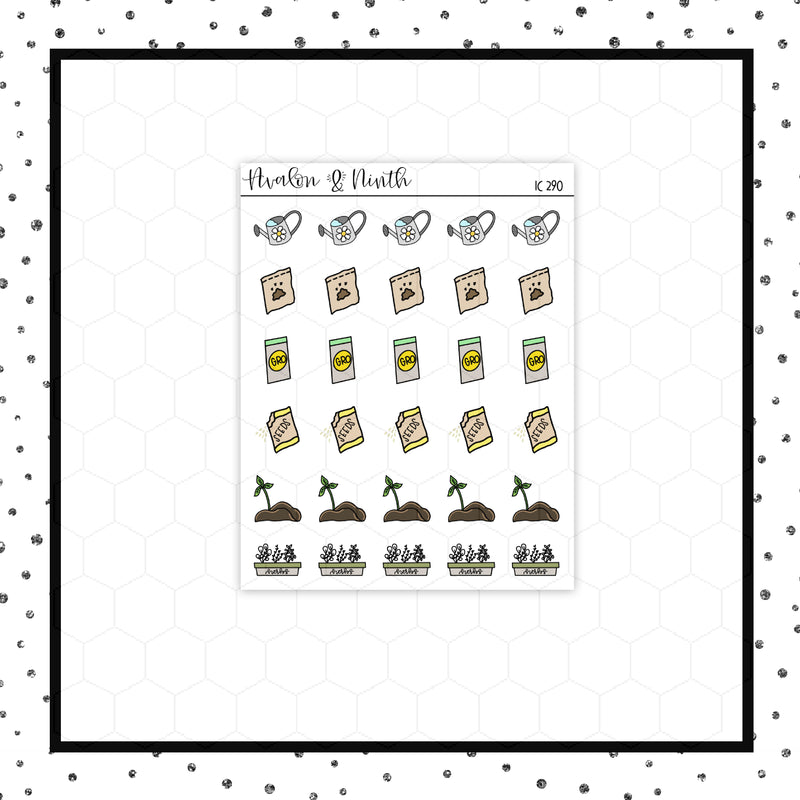 Gardening Stickers // Weekly Tracker // Planner Stickers // IC290