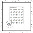 Watering Can Stickers // Weekly Tracker // Planner Stickers // IC291