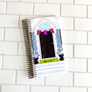 Halloween Door with Spiders Cover // A&N Weeks Planner // Coiled Weeks Planner // Undated Planner
