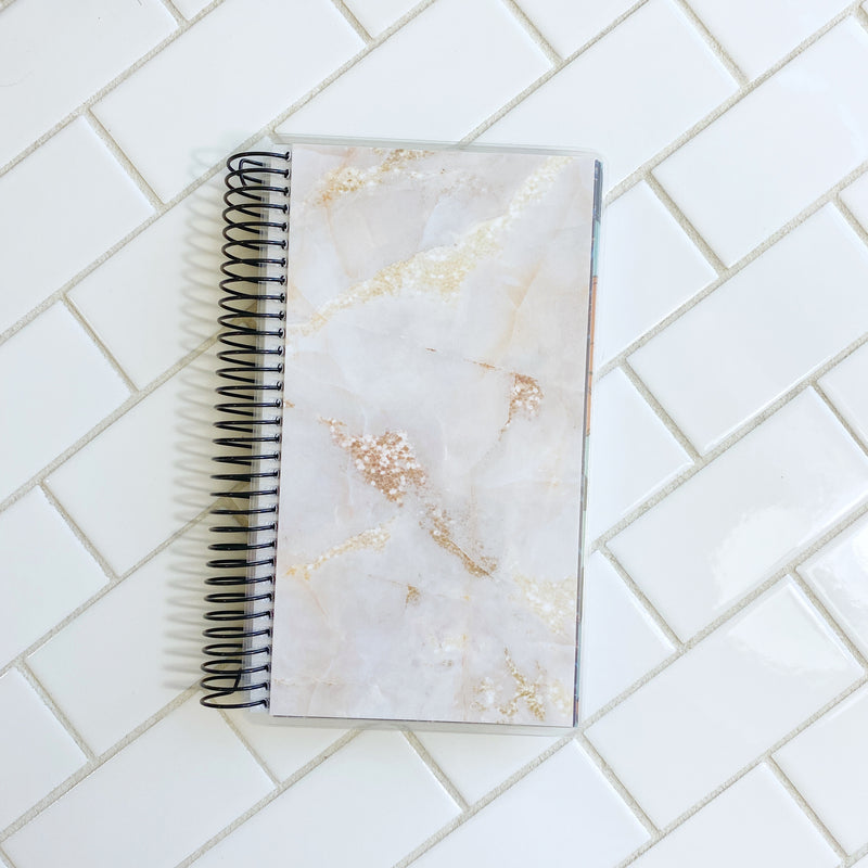Gold Marble Cover // A&N Weeks Planner // Coiled Weeks Planner // Undated Planner
