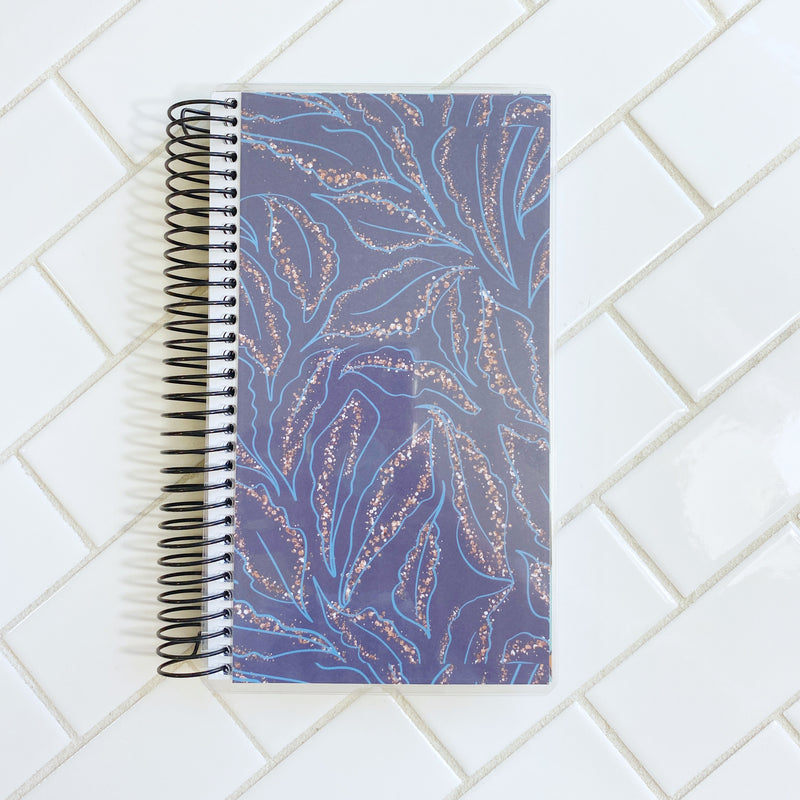 Blue Floral Planner Cover Only - Choose 7x9 or A&N Weeks sizing