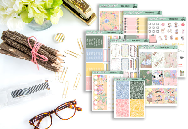 Spring Emerges Weekly Kit // A La Carte Kit // Planner Stickers // KIT12701