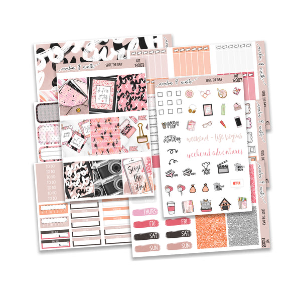 Seize The Day Weekly Kit // A La Carte Kit // Planner Stickers // KIT13001