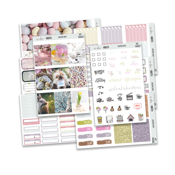 Easter Day Weekly Kit // A La Carte Kit // Planner Stickers // KIT13501