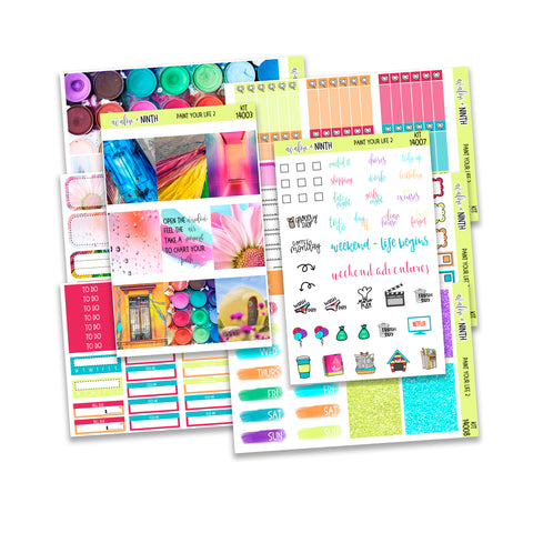 Paint Your Life 2 Weekly Kit // A La Carte Kit // Planner Stickers // KIT14001