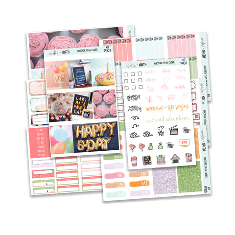 Another Year Older Weekly Kit // A La Carte Kit // Planner Stickers // KIT14101
