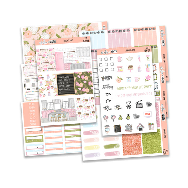 Baking Day Weekly Kit // A La Carte Kit // Planner Stickers // KIT15501