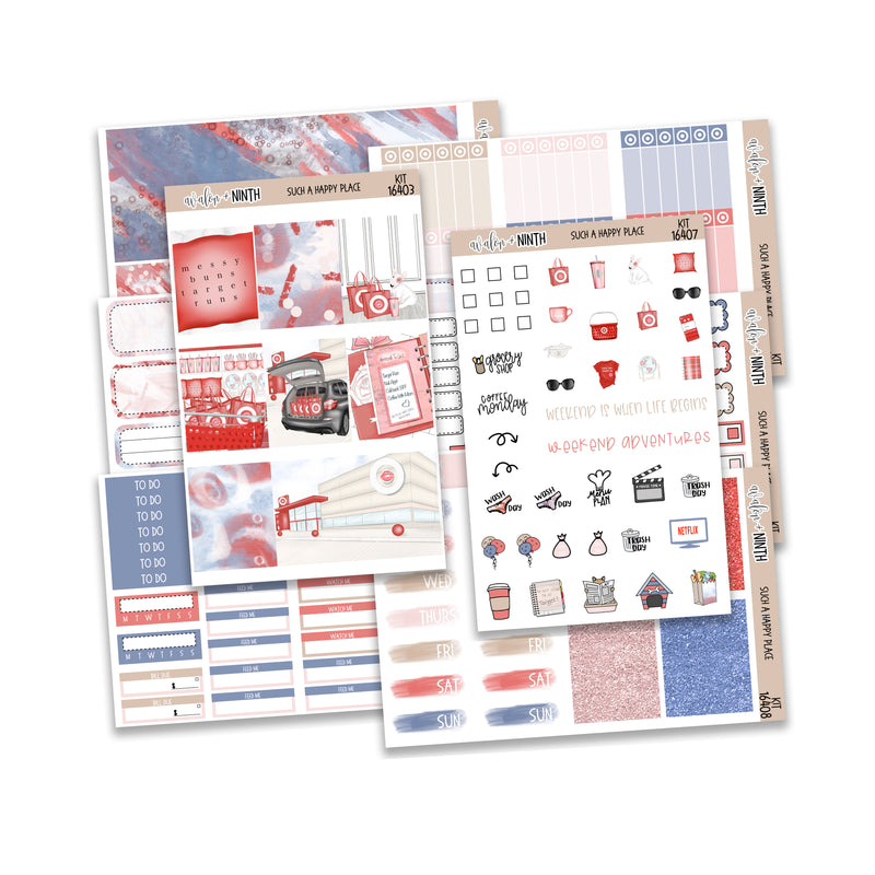 Such a Happy Place Weekly Kit // A La Carte Kit // Planner Stickers // KIT16401