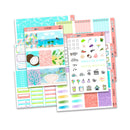 At The Beach Weekly Kit // Exclusive Art // A La Carte Kit // Planner Stickers // KIT16601