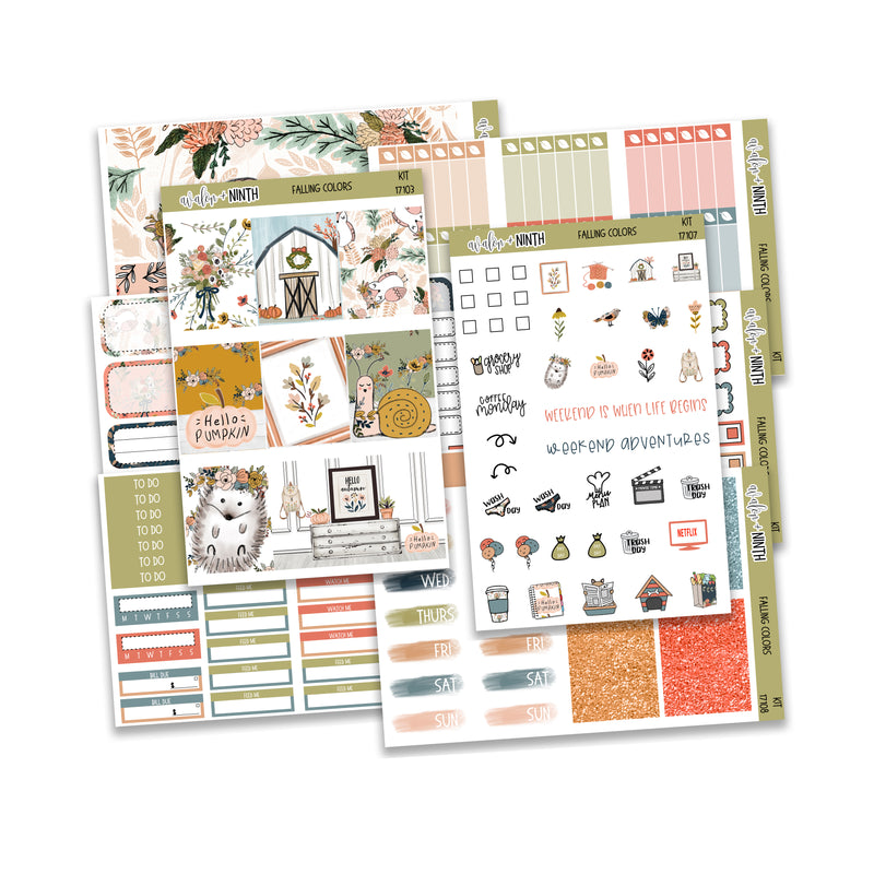Falling Colors Weekly Kit // A La Carte Kit // Planner Stickers // KIT17101