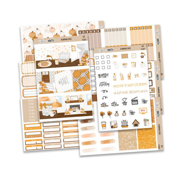 Pumpkin Spice Weekly Kit // A La Carte Kit // Planner Stickers // KIT17201